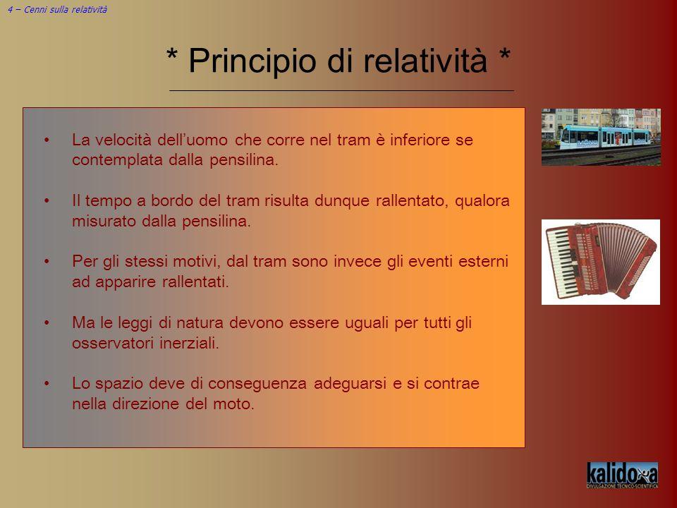 * Principio di relatività *