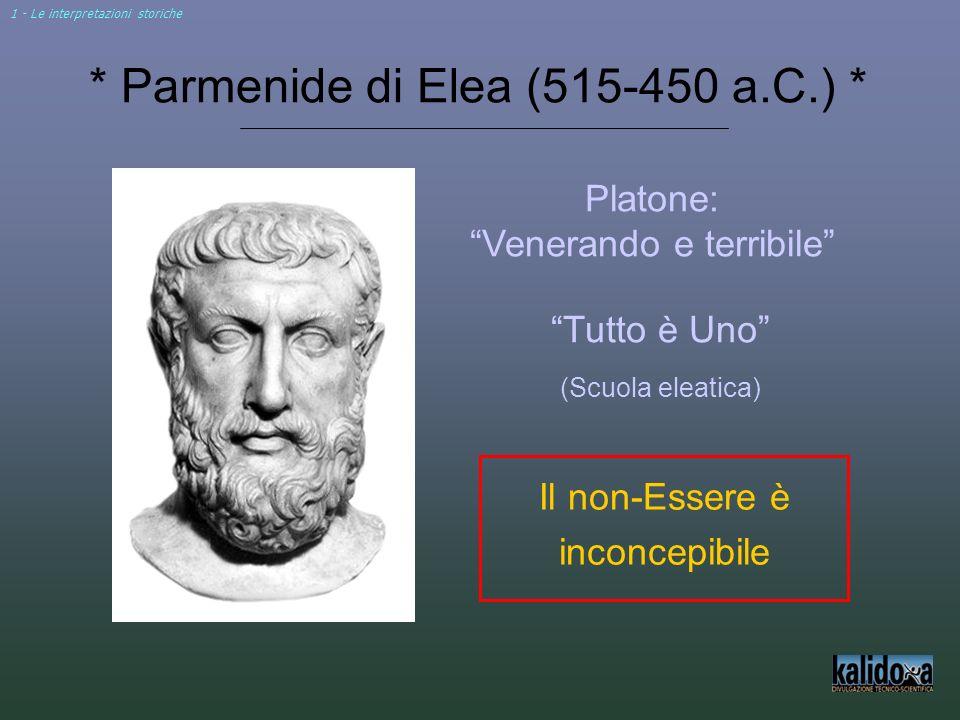 * Parmenide di Elea (515-450 a.C.) *