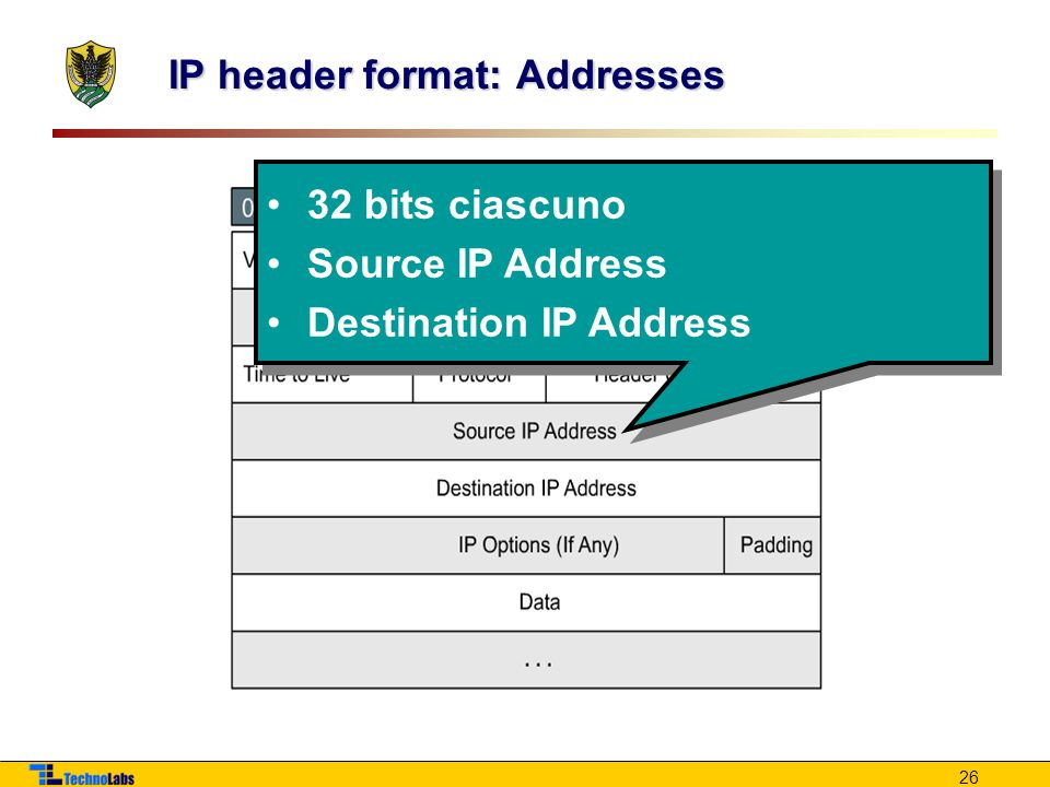 IP header format: Addresses