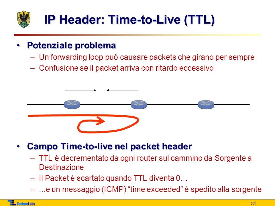 IP Header: Time-to-Live (TTL)