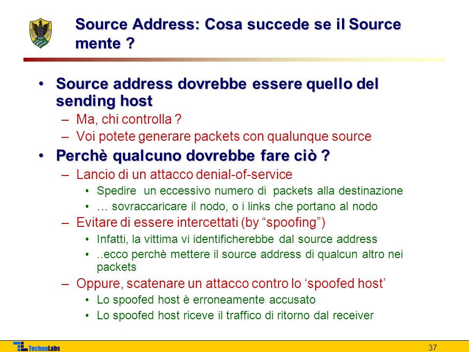 Source Address: Cosa succede se il Source mente