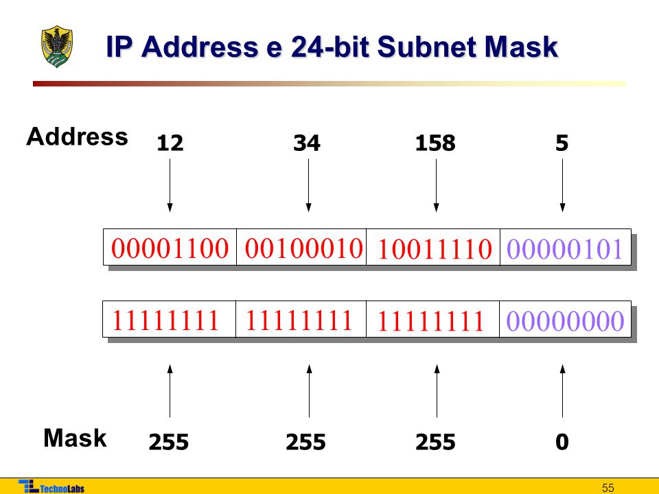 IP Address e 24-bit Subnet Mask