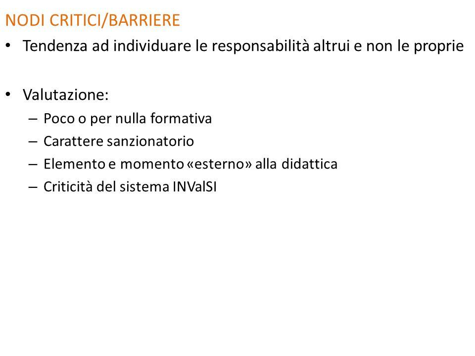 NODI CRITICI/BARRIERE