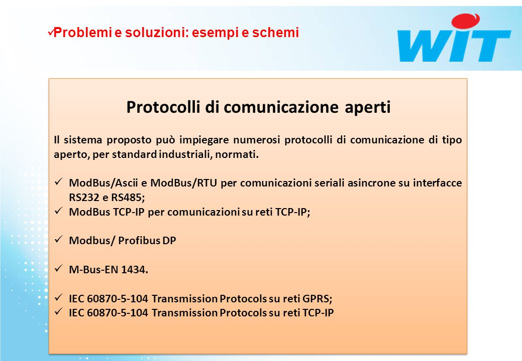 Protocolli di comunicazione aperti