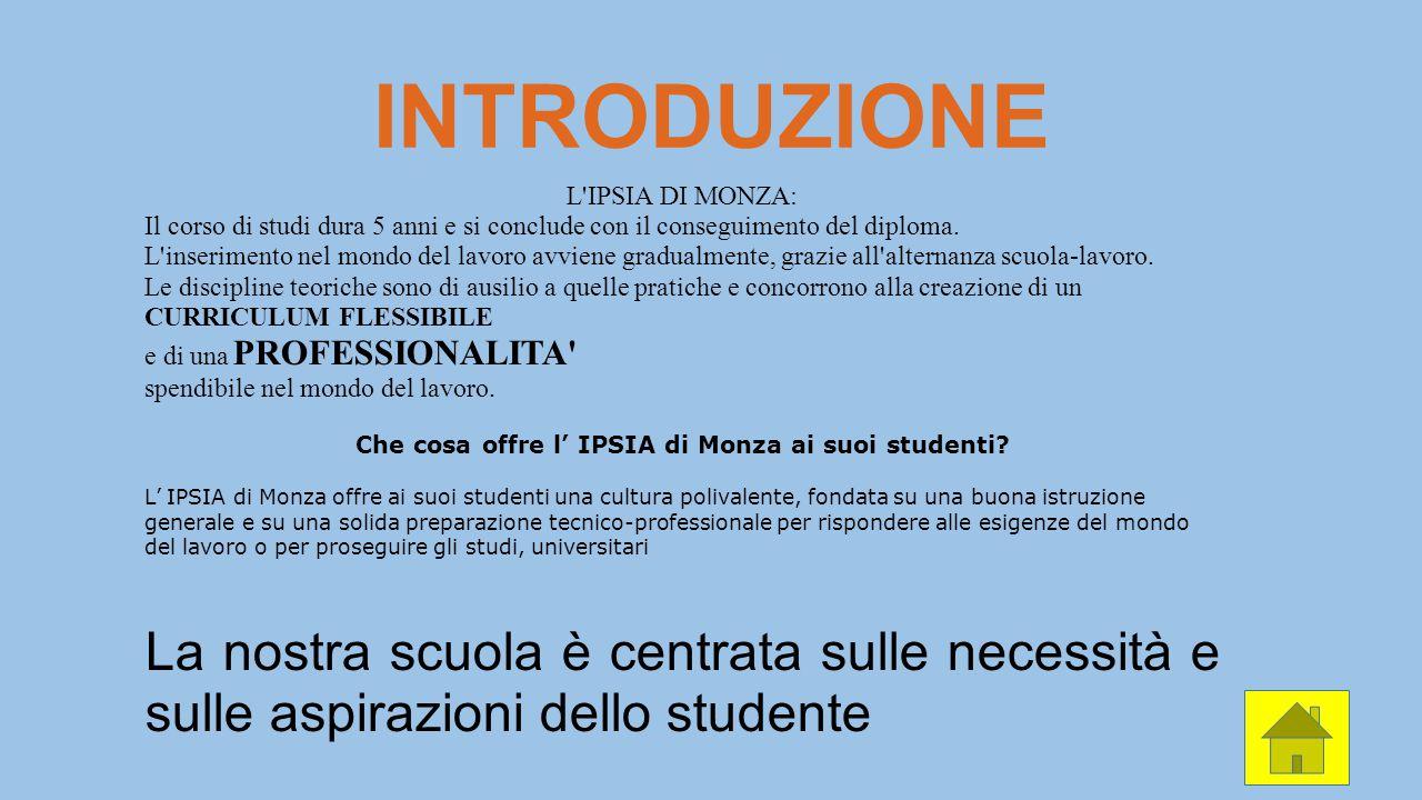 Che cosa offre l' IPSIA di Monza ai suoi studenti