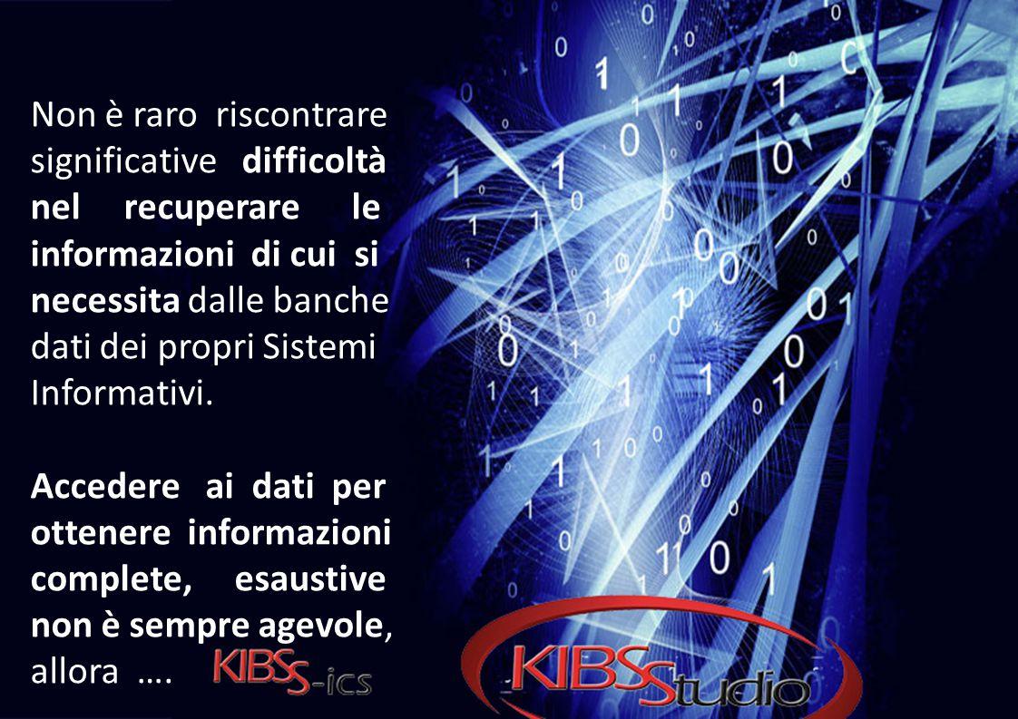 Non è raro riscontrare significative difficoltà nel recuperare le informazioni di cui si necessita dalle banche dati dei propri Sistemi Informativi.