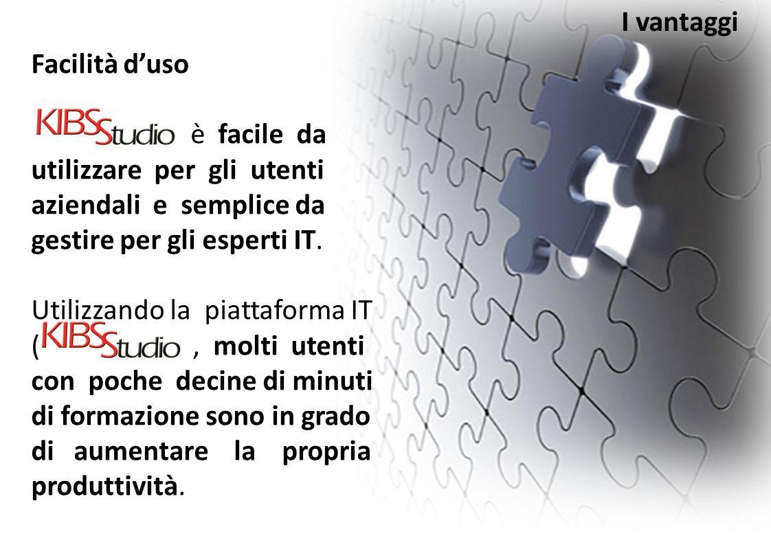 I vantaggi Facilità d'uso. è facile da utilizzare per gli utenti aziendali e semplice da gestire per gli esperti IT.