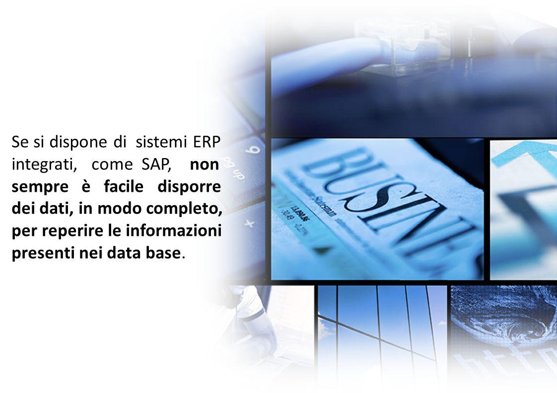 Se si dispone di sistemi ERP