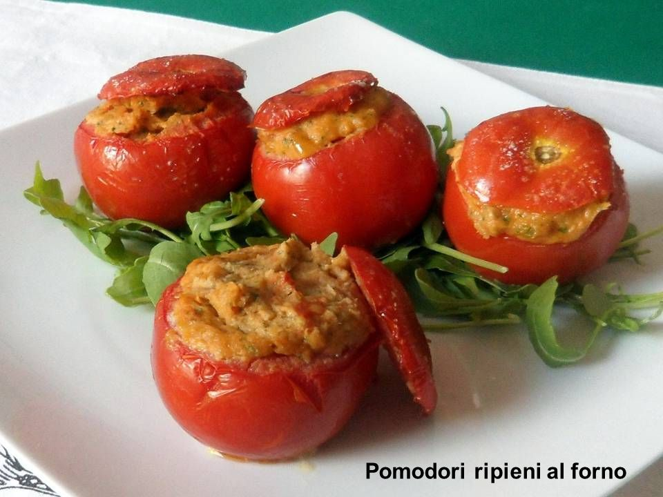 Pomodori ripieni al forno