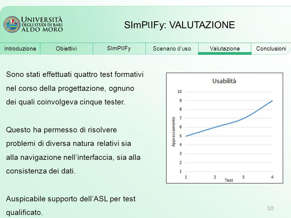 SImPlIFy: VALUTAZIONE