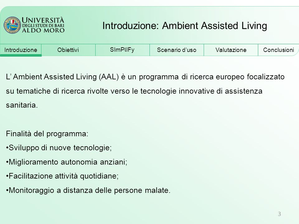 Introduzione: Ambient Assisted Living