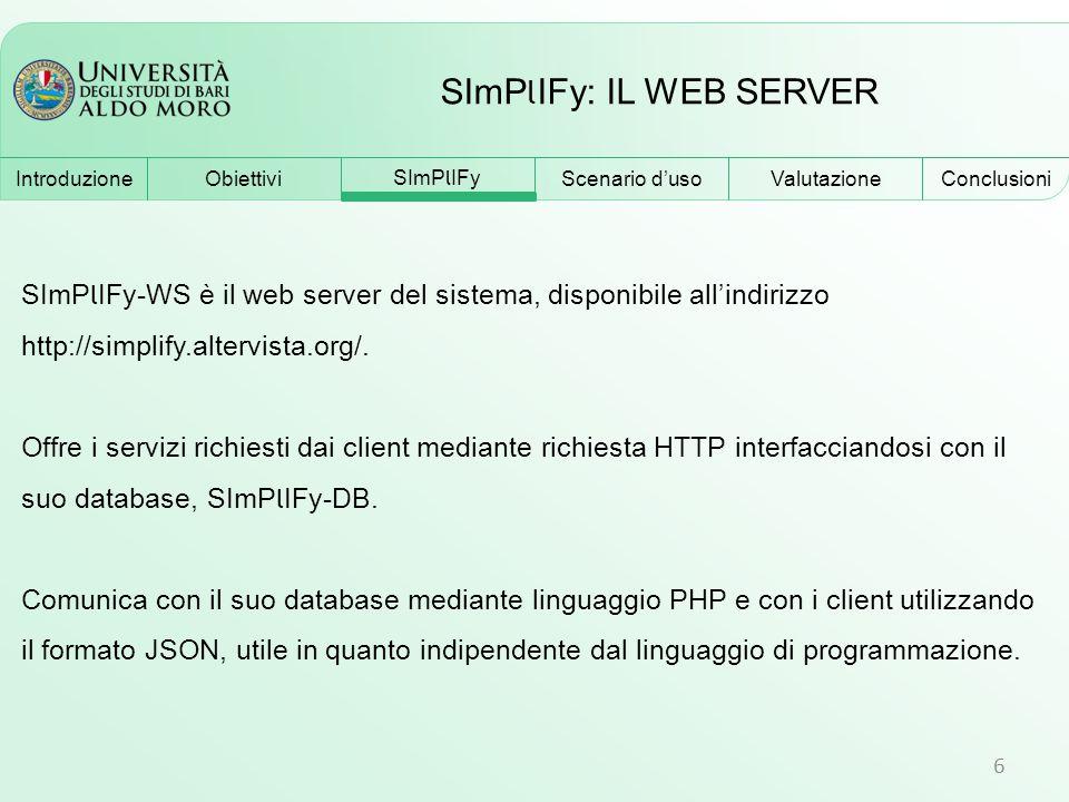 SImPlIFy: IL WEB SERVER
