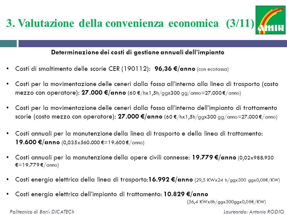 3. Valutazione della convenienza economica (3/11)