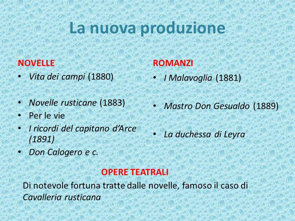 La nuova produzione NOVELLE ROMANZI Vita dei campi (1880)