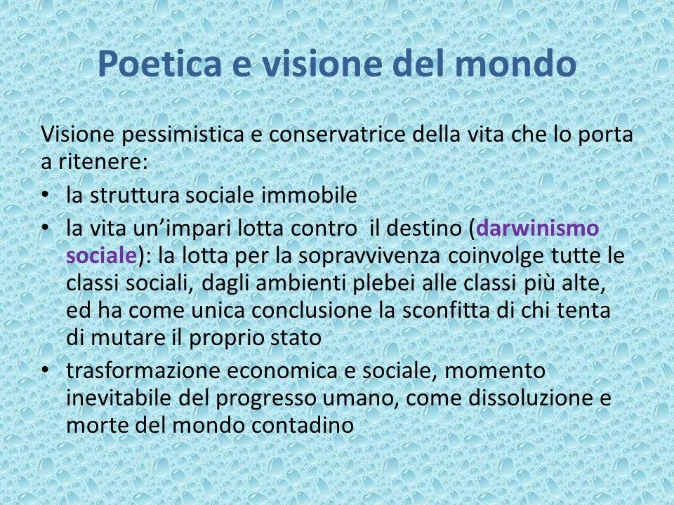 Poetica e visione del mondo