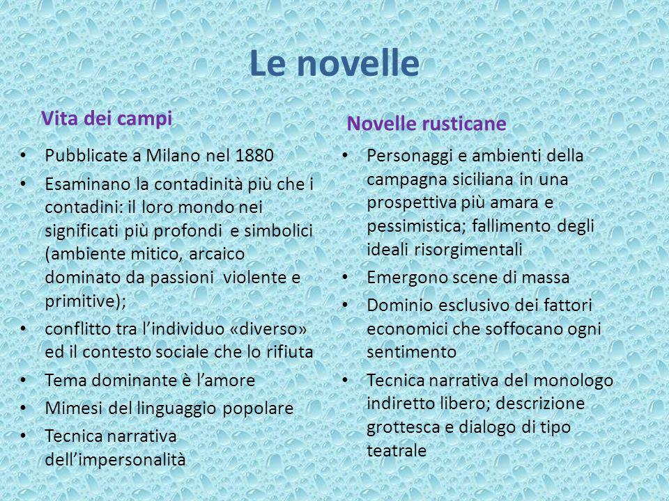 Le novelle Vita dei campi Novelle rusticane