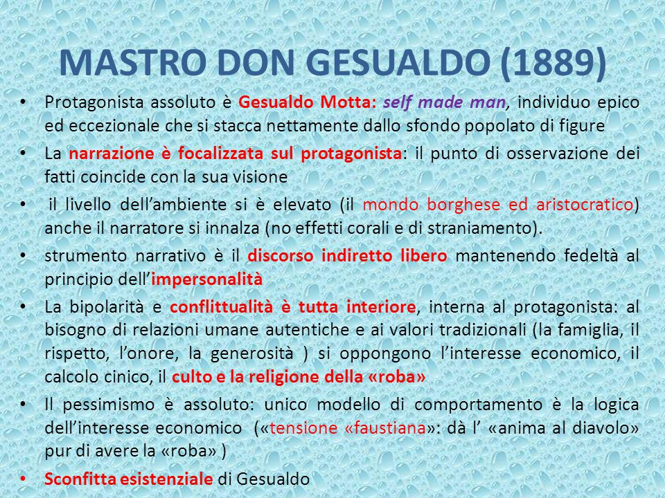 MASTRO DON GESUALDO (1889)
