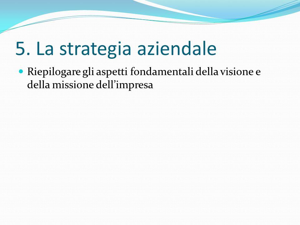 5. La strategia aziendale