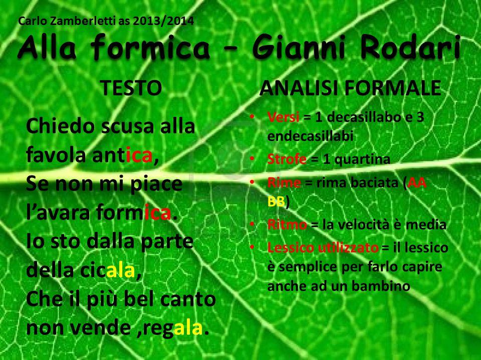 Alla formica – Gianni Rodari