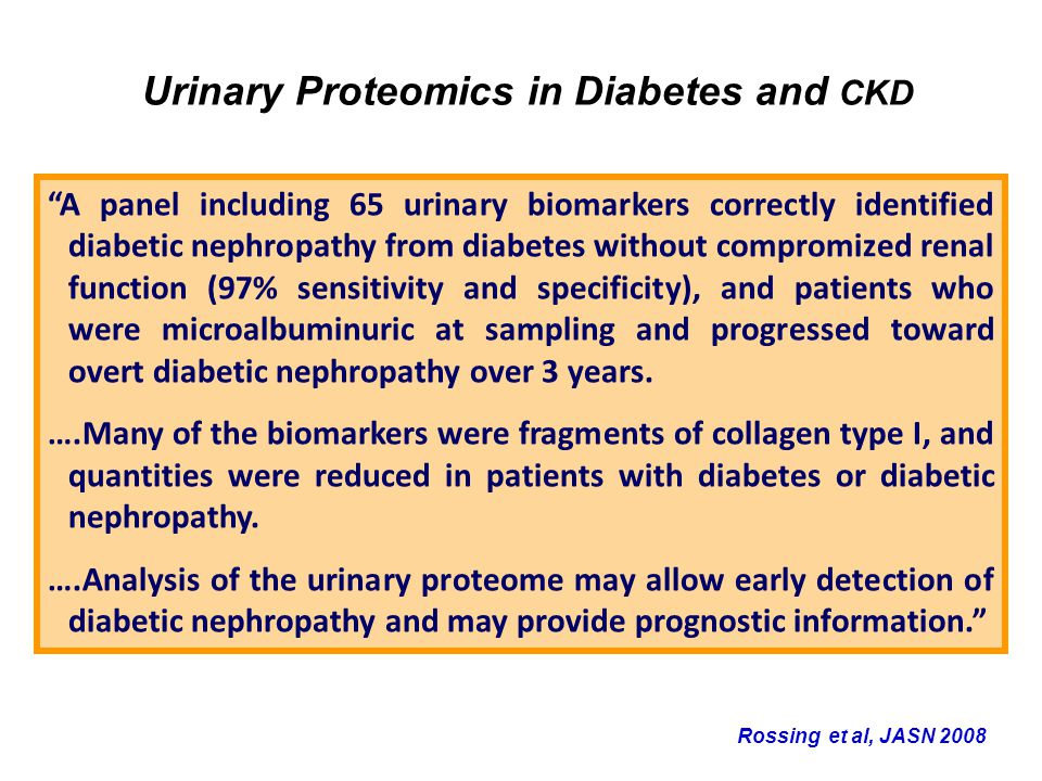 Urinary Proteomics in Diabetes and CKD