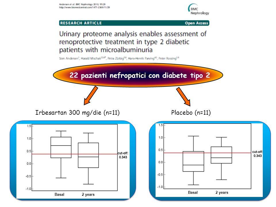 22 pazienti nefropatici con diabete tipo 2