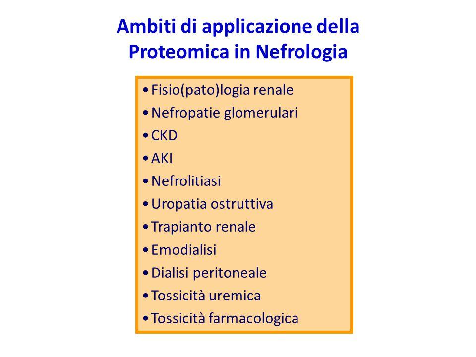 Ambiti di applicazione della Proteomica in Nefrologia