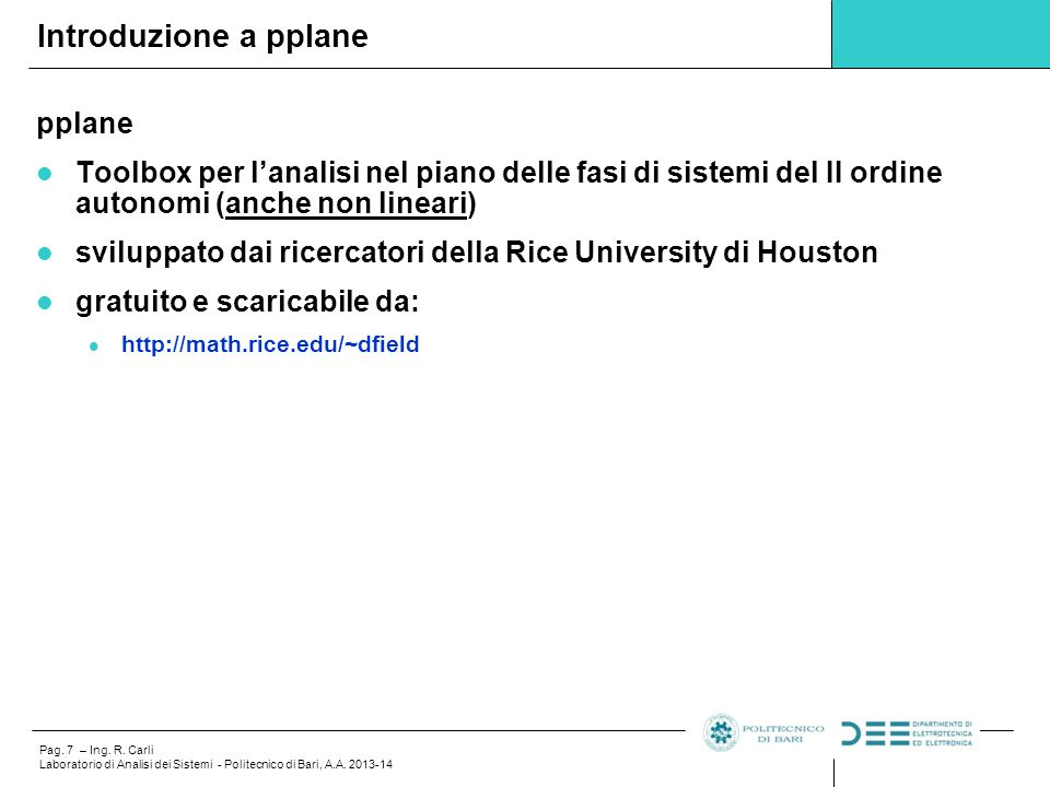 Introduzione a pplane pplane