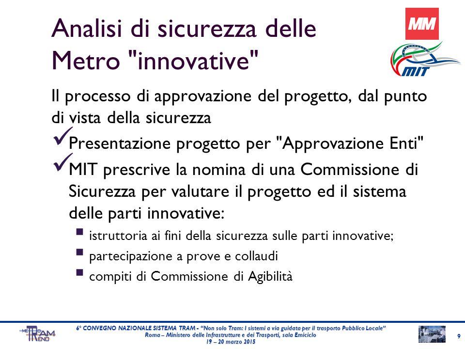 Analisi di sicurezza delle Metro innovative