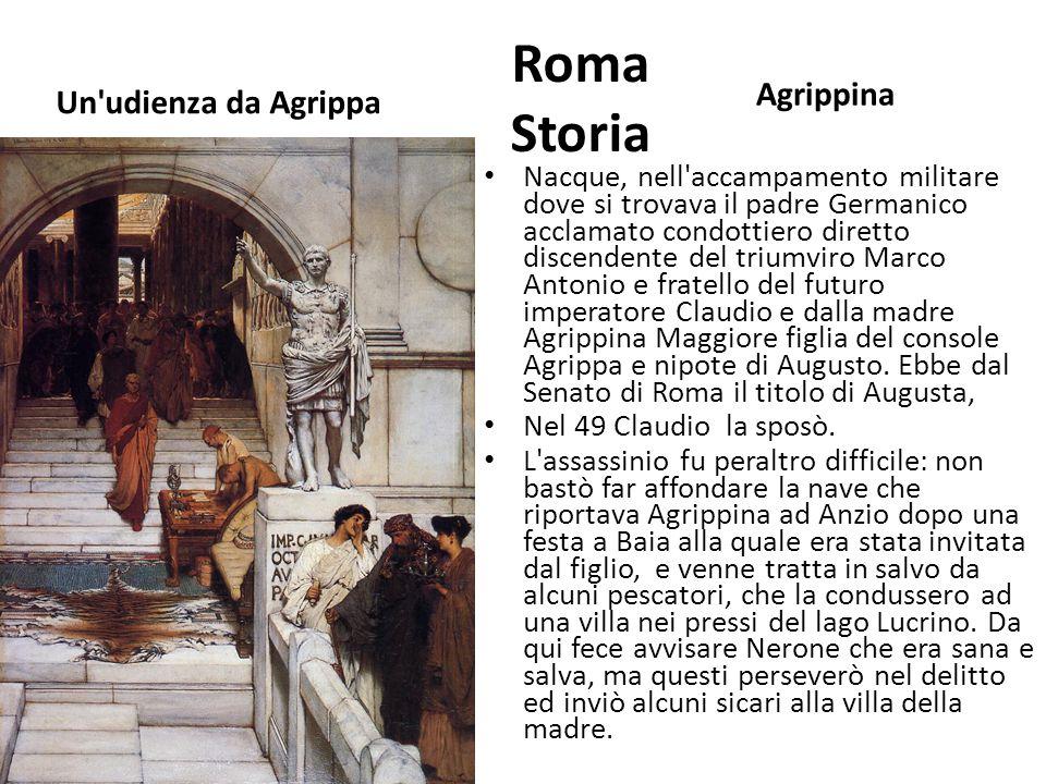 Roma Storia Agrippina Un udienza da Agrippa