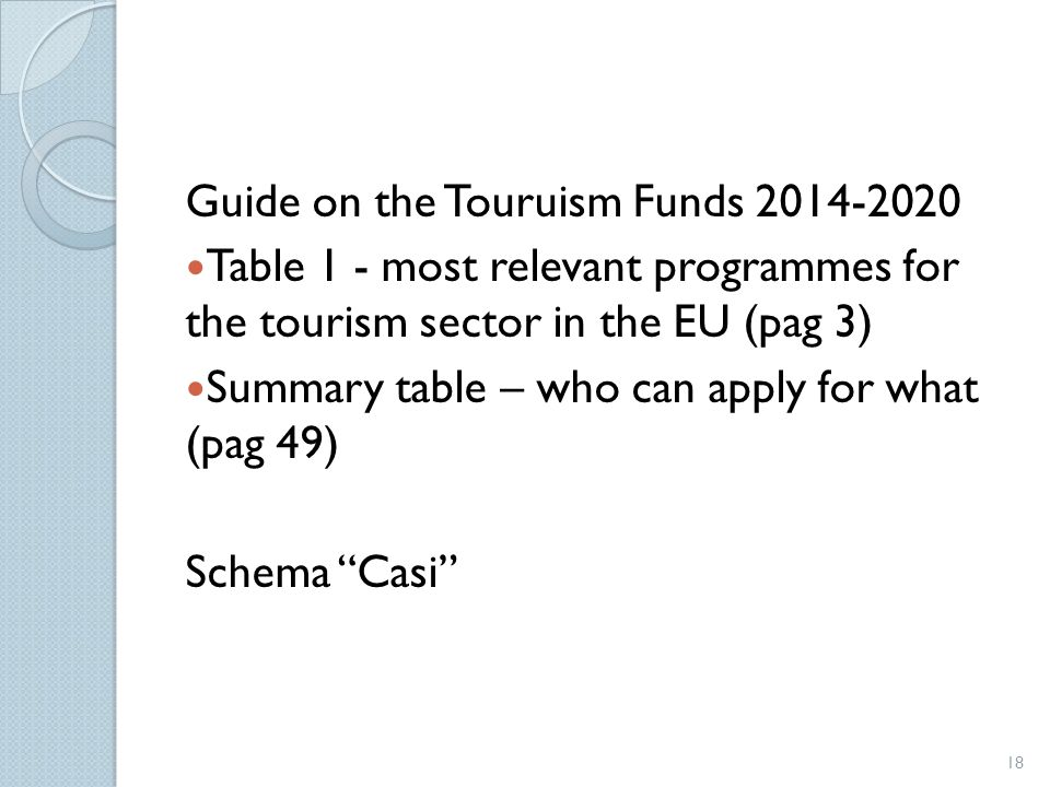 Guide on the Touruism Funds 2014-2020