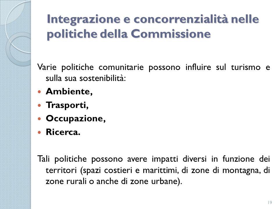 Integrazione e concorrenzialità nelle politiche della Commissione