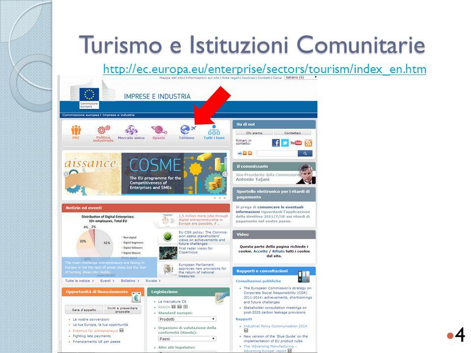 Turismo e Istituzioni Comunitarie