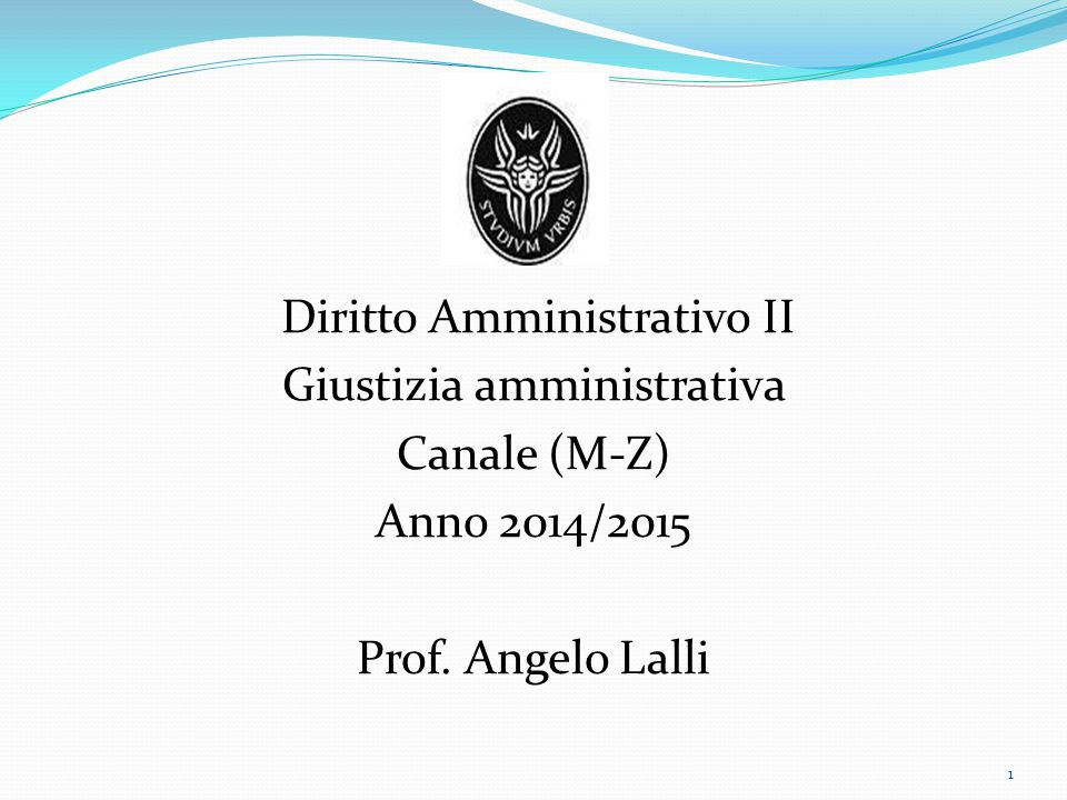 Giustizia amministrativa Canale (M-Z) Anno 2014/2015