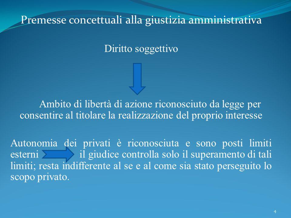 Premesse concettuali alla giustizia amministrativa