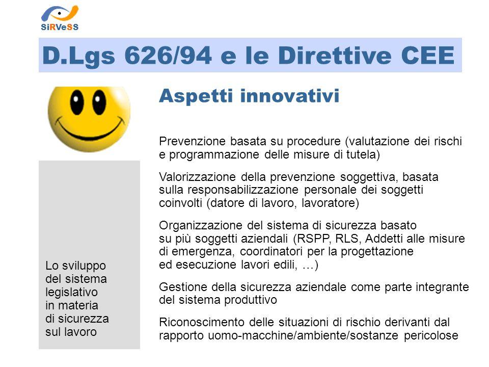 D.Lgs 626/94 e le Direttive CEE
