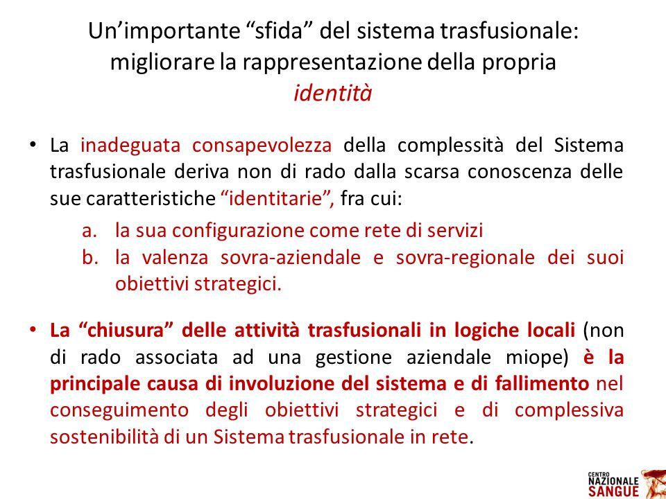 Un'importante sfida del sistema trasfusionale: migliorare la rappresentazione della propria identità