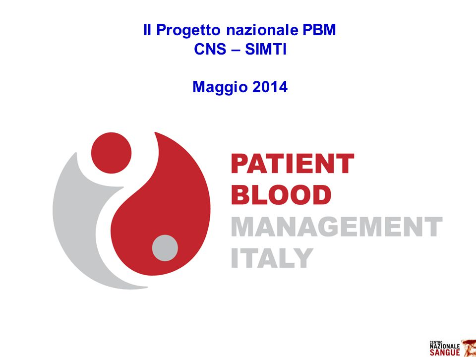Il Progetto nazionale PBM
