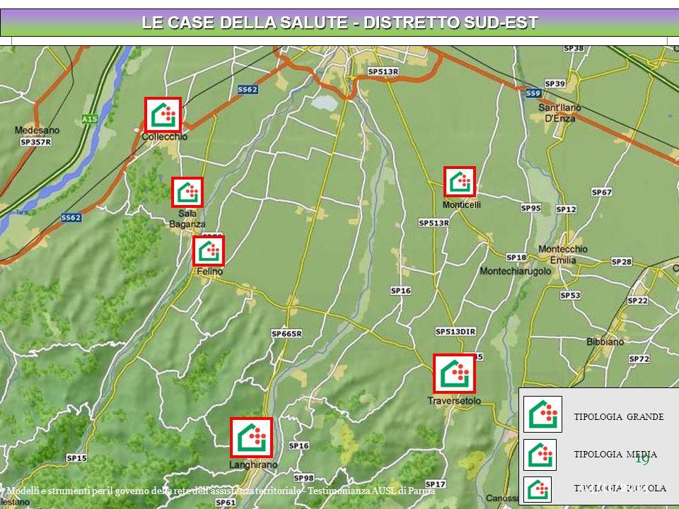 LE CASE DELLA SALUTE - DISTRETTO SUD-EST