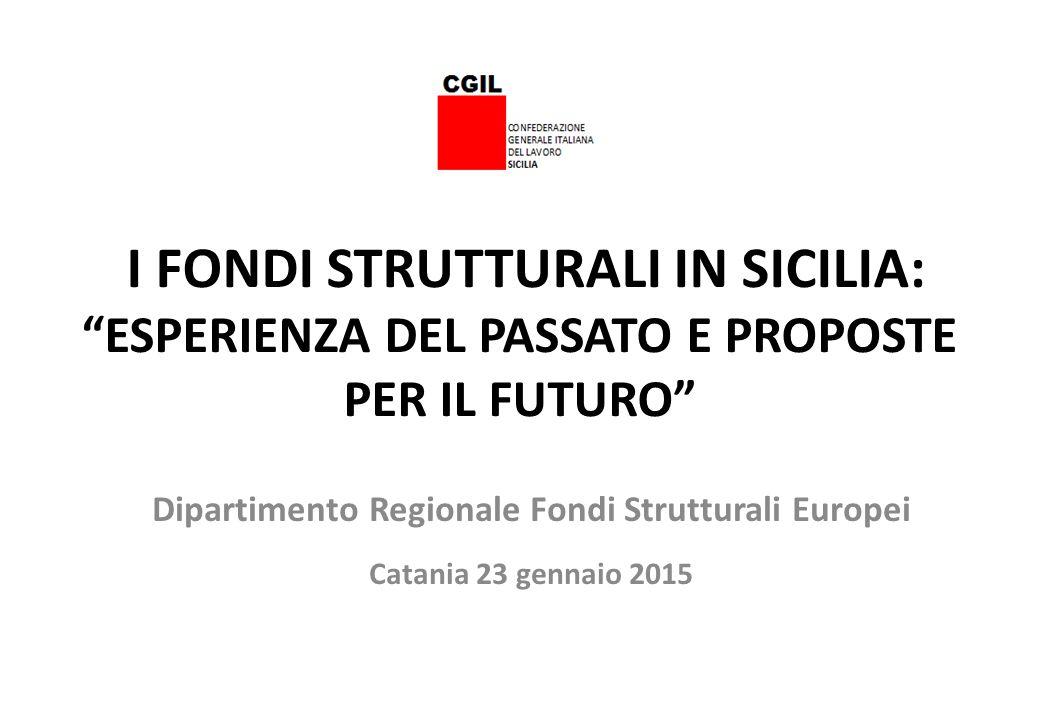 LA PROGRAMMAZIONE COMUNITARIA SICILIA 2007/2013