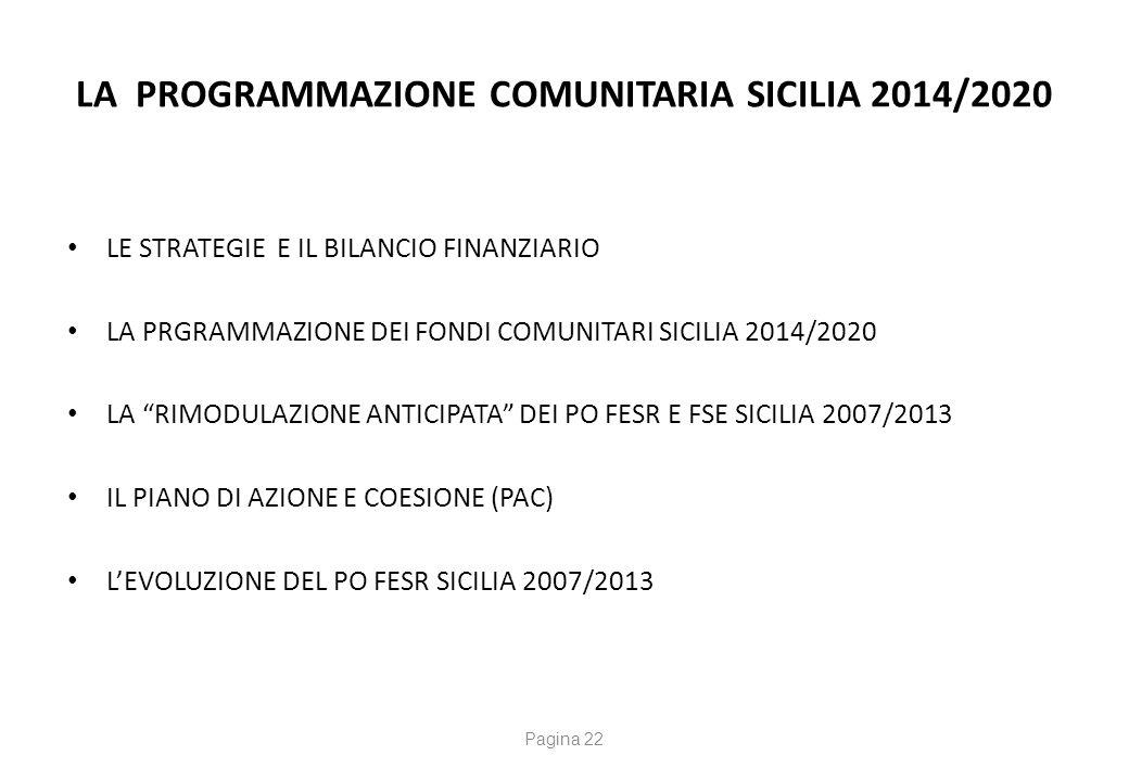 La Programmazione Comunitaria 2014/2020 Le strategie della Commissione Europea