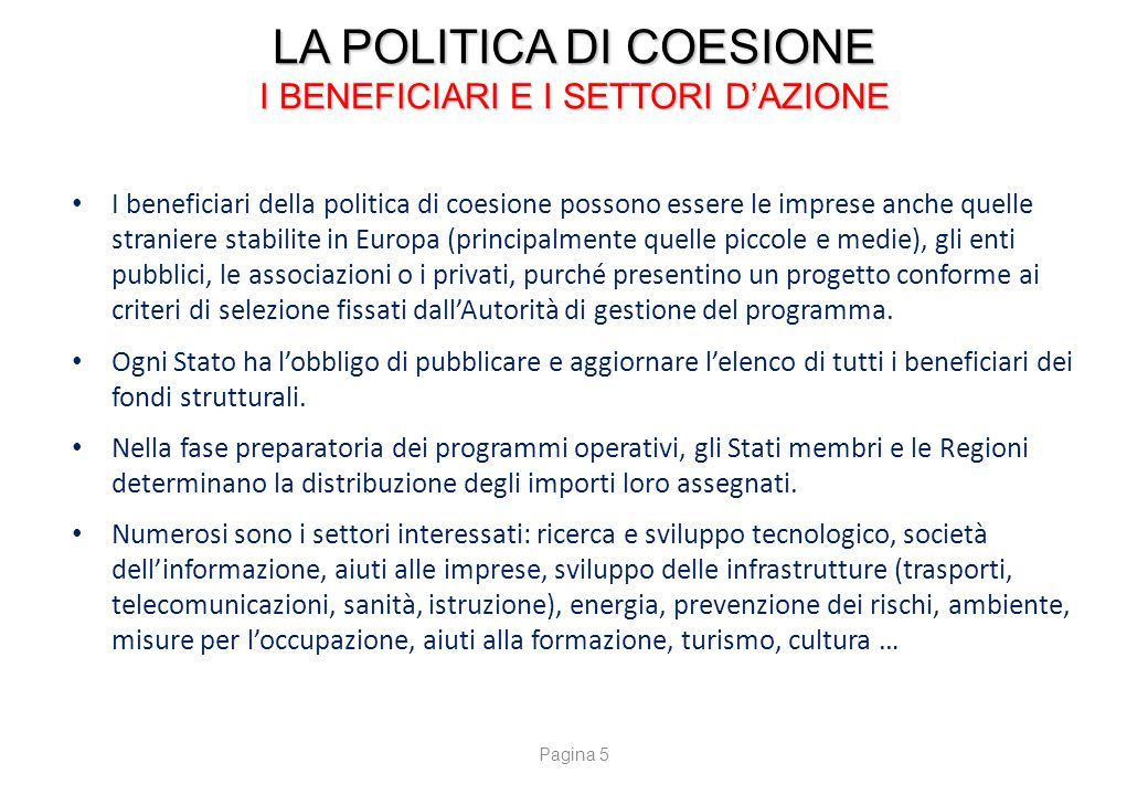LA POLITICA DI COESIONE I CONTROLLI E LA LOTTA CONTRO LE FRODI