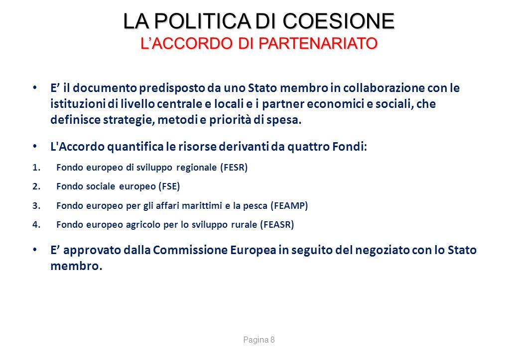 LA POLITICA DI COESIONE OBIETTIVO DI CERTIFICAZIONE DI SPESA AL 31 12 2014 Fonte : DPS/ Agenzia per la Coesione Territoriale
