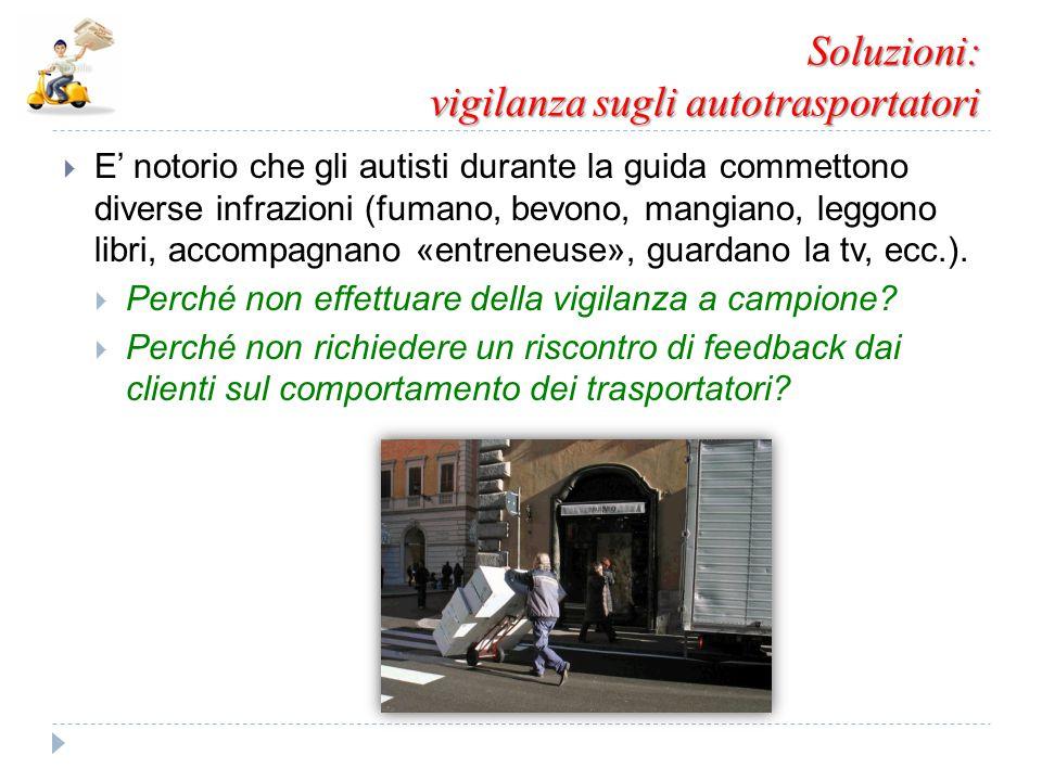 Soluzioni: vigilanza sugli autotrasportatori