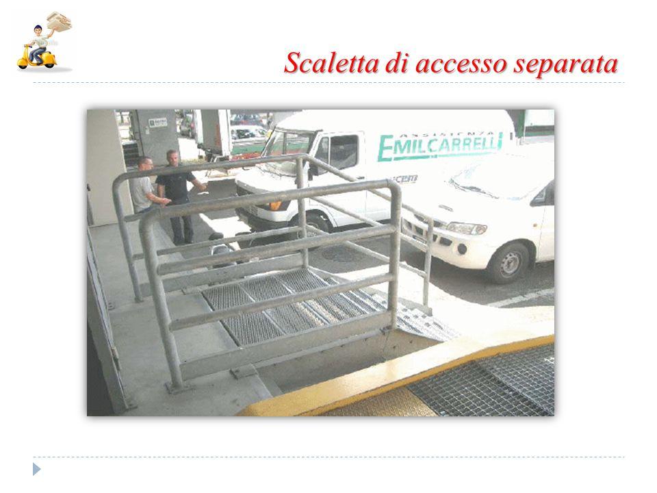 Scaletta di accesso separata