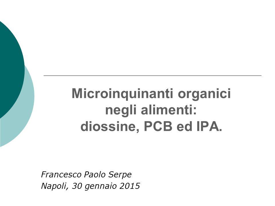 Microinquinanti organici negli alimenti: diossine, PCB ed IPA.