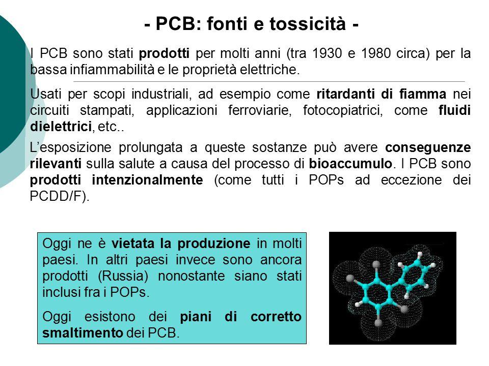 - PCB: fonti e tossicità -