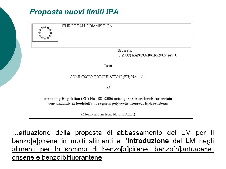 Proposta nuovi limiti IPA