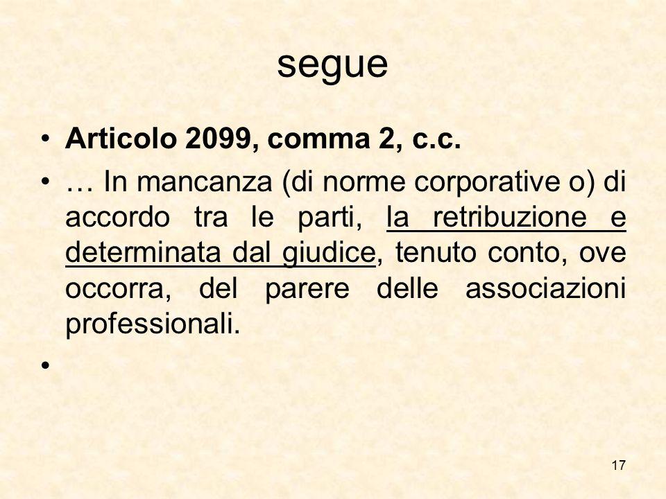 segue Articolo 2099, comma 2, c.c.