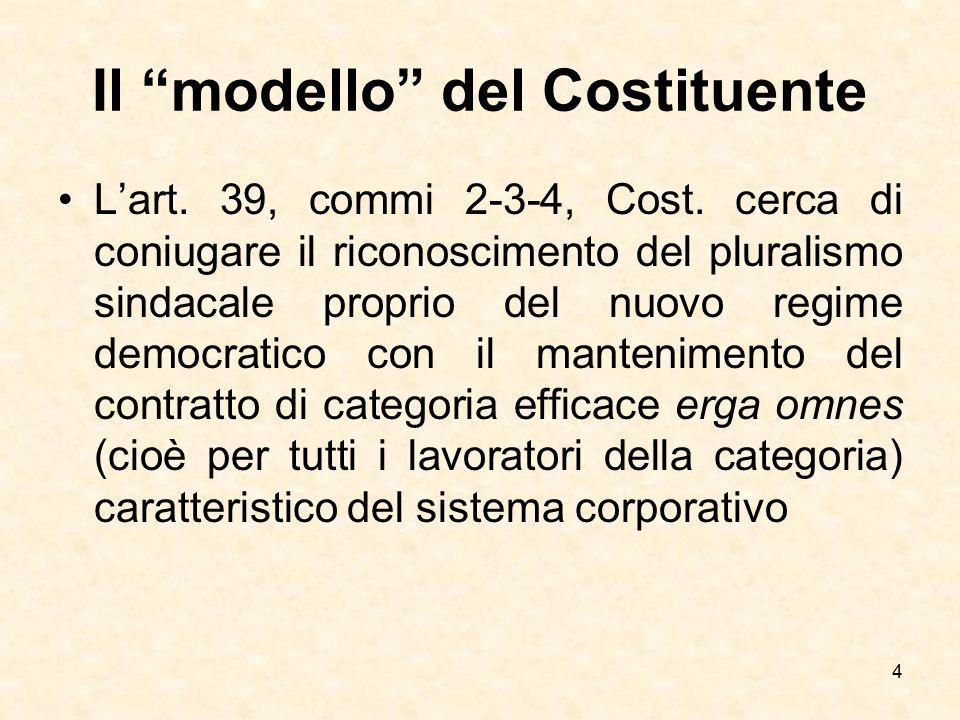 Il modello del Costituente
