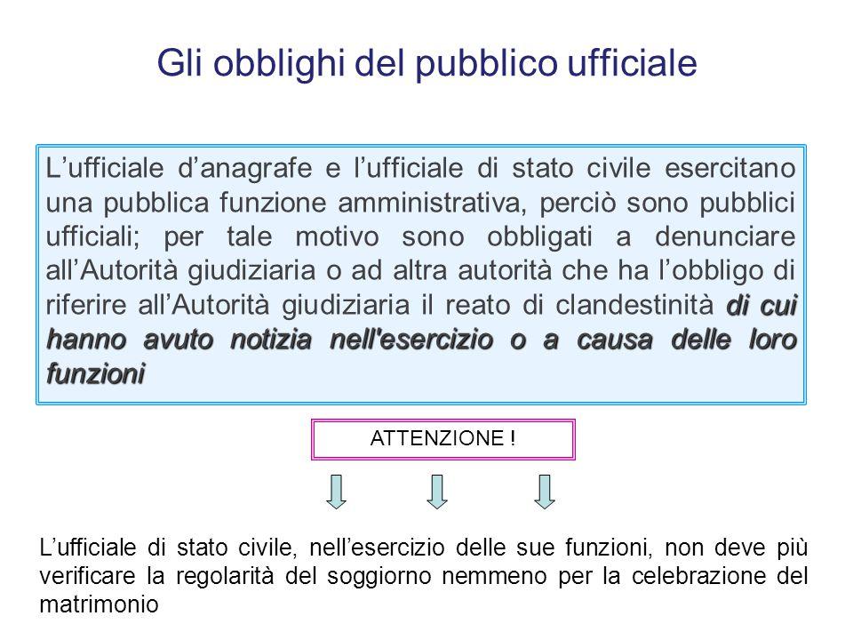 Gli obblighi del pubblico ufficiale